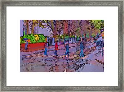 Abbey Road Crossing Framed Print by Chris Thaxter