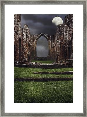 Abbey Steps Framed Print by Amanda And Christopher Elwell