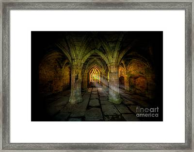 Abbey Sunlight Framed Print by Adrian Evans