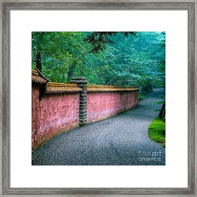 Abby Aldrich Rockefeller Garden Framed Print by Edward Fielding