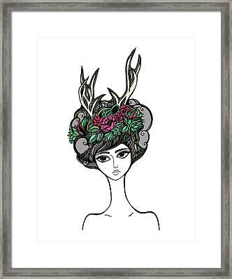 Abby Framed Print by Jody Pham