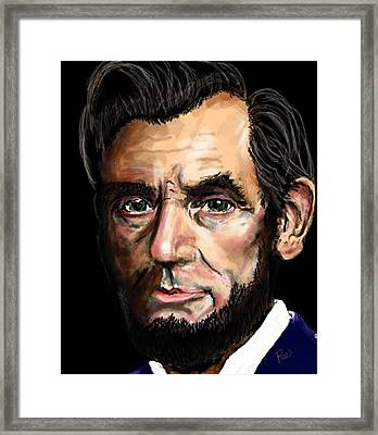 Abe Lincoln Framed Print by Maria Schaefers