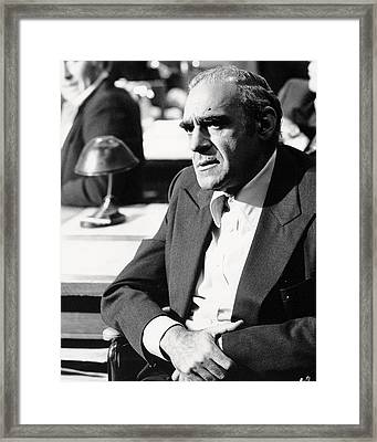 Abe Vigoda In The Godfather  Framed Print by Silver Screen