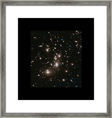 Abell 2477 Massive Galaxy Cluster Framed Print by L Brown