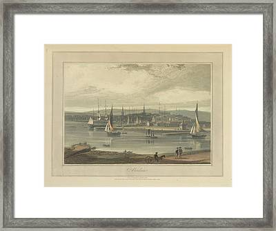 Aberdeen City And Port Framed Print by British Library