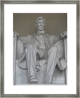 Aberham Lincoln  Framed Print by John Morris