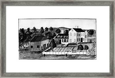 Abigail Adams Home Framed Print by Granger