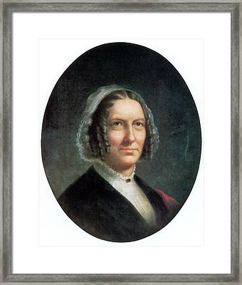 Abigail Fillmore, First Lady Framed Print by Science Source