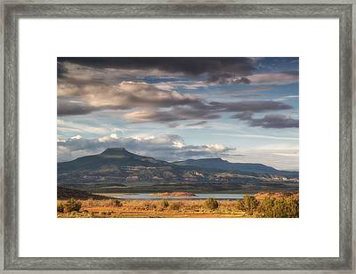 Abiquiu New Mexico Pico Pedernal In The Morning Framed Print by Silvio Ligutti