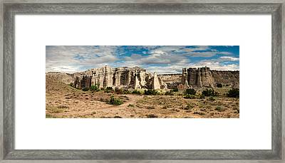 Abiquiu New Mexico Plaza Blanca In Technicolor Framed Print by Silvio Ligutti