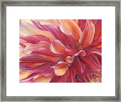 Ablaze Framed Print by Sandy Haight