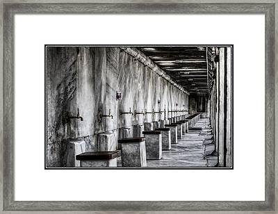 Ablutions Framed Print by Joan Carroll