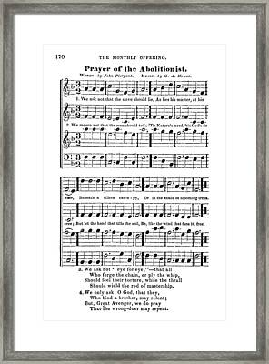Abolitionist Song, C1843 Framed Print by Granger