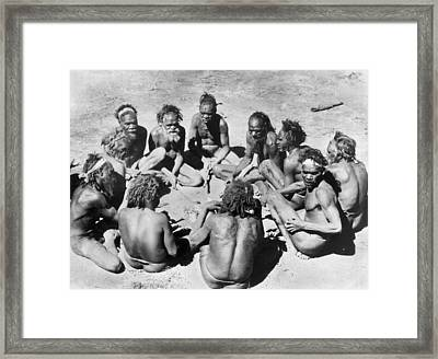 Aborigine Elder Council Framed Print by Underwood Archives