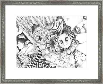 About The Eternal Mystery Of Potentiality Framed Print by Helena Tiainen