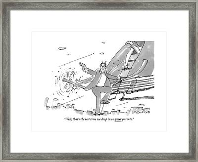 Above A City Framed Print by Michael Crawford