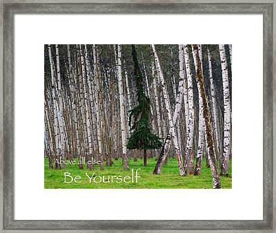 Above All Else Be Yourself Framed Print by Mary Lee Dereske