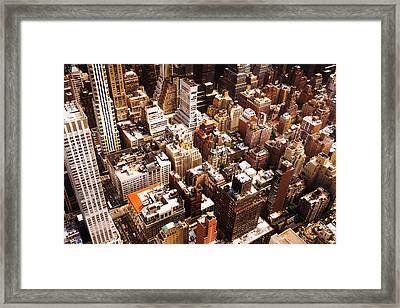 Above New York City Framed Print by Vivienne Gucwa