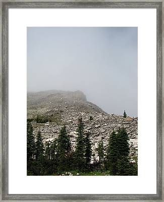 Above Scapegoat Camp Fog Framed Print by Pam Little