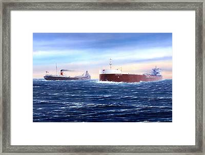 Above The Huron Cut Framed Print by Captain Bud Robinson