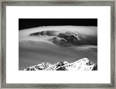 Above The Peaks Framed Print by Dave Bowman