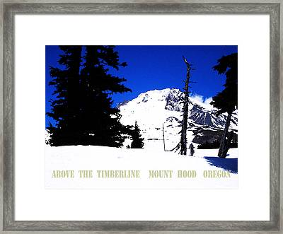 Above The Timberline  Mt Hood  Oregon Framed Print by Glenna McRae