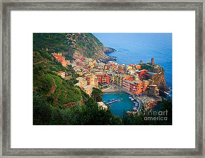 Above Vernazza Framed Print by Inge Johnsson