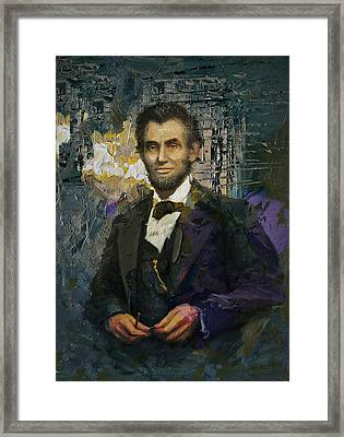 Abraham Lincoln 01 Framed Print by Corporate Art Task Force
