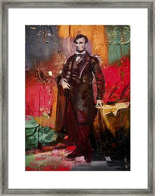 Abraham Lincoln 05 Framed Print by Corporate Art Task Force