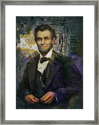 Abraham Lincoln 07 Framed Print by Corporate Art Task Force