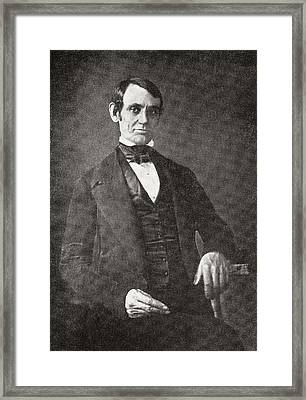 Abraham Lincoln, 1809 – 1865.  16th President Of The United States Of America.  From Abraham Framed Print by Bridgeman Images
