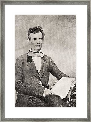 Abraham Lincoln, 1809 – 1865, Seen Here In 1854.  16th President Of The United States Of America Framed Print by Bridgeman Images