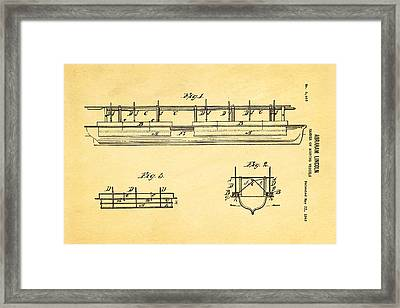 Abraham Lincoln Buoyancy Patent Art 1849 Framed Print by Ian Monk