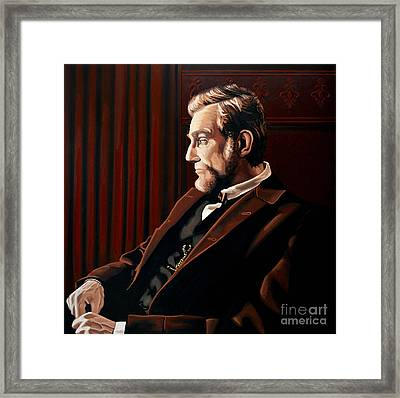 Abraham Lincoln By Daniel Day-lewis Framed Print by Paul Meijering