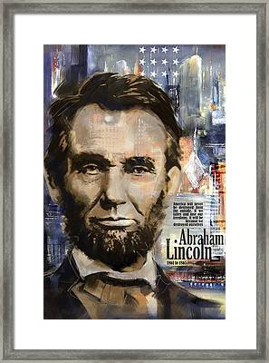Abraham Lincoln Framed Print by Corporate Art Task Force