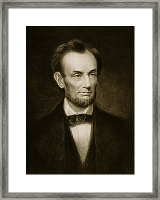 Abraham Lincoln Framed Print by Francis Bicknell Carpenter