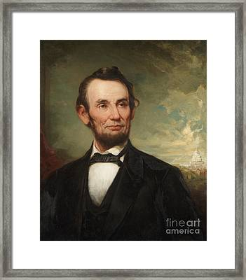 Abraham Lincoln  Framed Print by George Henry Story