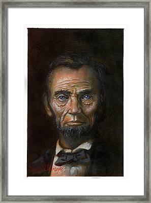 Abraham Lincoln Framed Print by Jeff Brimley