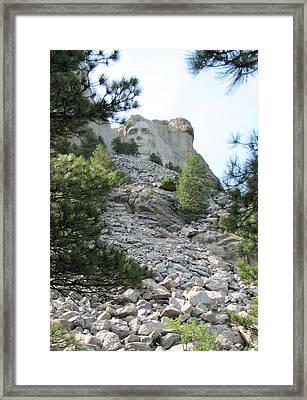 Abraham Lincoln - Mt. Rushmore Framed Print by Karen Gross