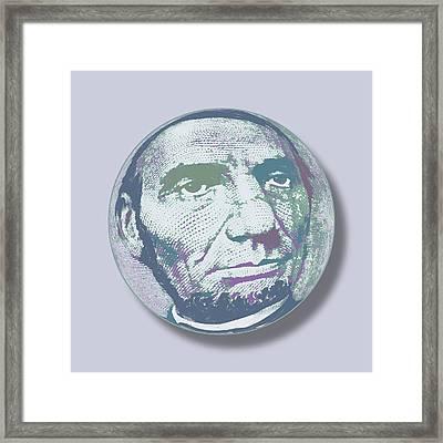 Abraham Lincoln Orb Framed Print by Tony Rubino