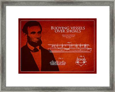 Abraham Lincoln Patent From 1849 Framed Print by Aged Pixel