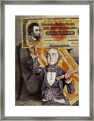 Abraham Lincoln Framed Print by Vincent Monozlay