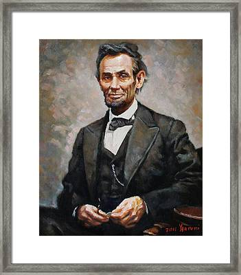 Abraham Lincoln Framed Print by Ylli Haruni