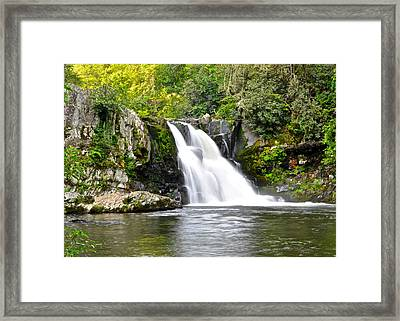 Abrams Falls Framed Print by Frozen in Time Fine Art Photography
