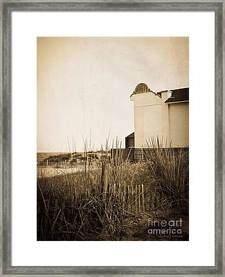 Absence Of Noise In Sepia Framed Print by Colleen Kammerer