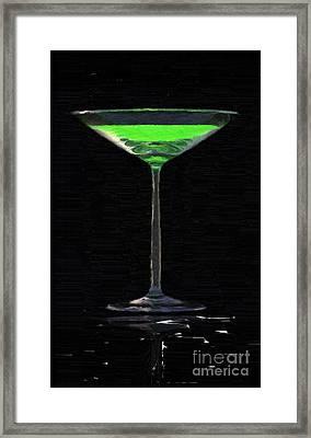 Absinth In The Glass Framed Print by Aleksey Tugolukov