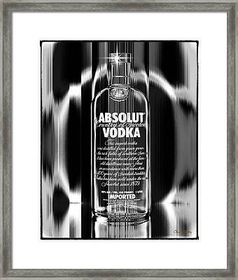 Absolut Black And White Framed Print by Chuck Staley