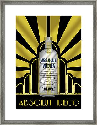 Absolut Deco Framed Print by Chuck Staley