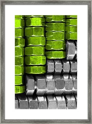 Absolutely Nuts Lime Green Wall Art II Framed Print by Natalie Kinnear