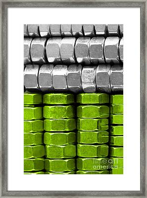Absolutely Nuts Lime Green Wall Art IIi Framed Print by Natalie Kinnear